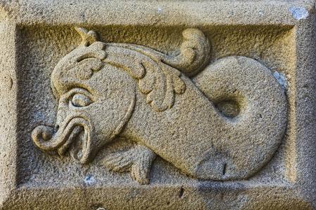 detail of a bas-relief on stone Reklamní fotografie