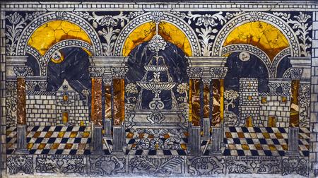 Inlaid marble antependium - 301
