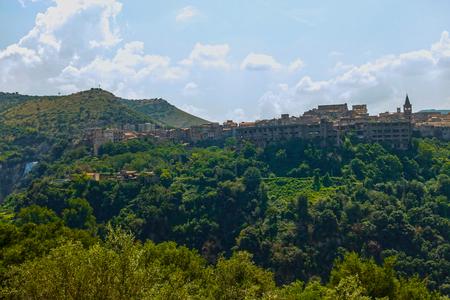 panoramic photo of the city Tivoli god