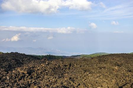 lava front in Piano Provenzana Reklamní fotografie