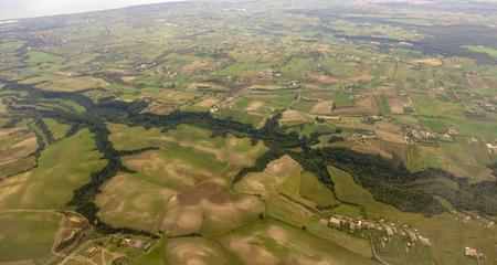 aerial overview of the Roman countryside
