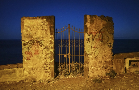 Gate on the sea at night - 137