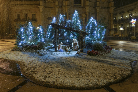 Nativity in Acireale with snow - 49