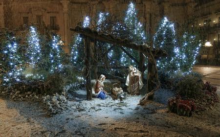 nativity scene under the snow - 50