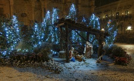 Nativity scene at Piazza Duomo in Acireale - 55 Reklamní fotografie