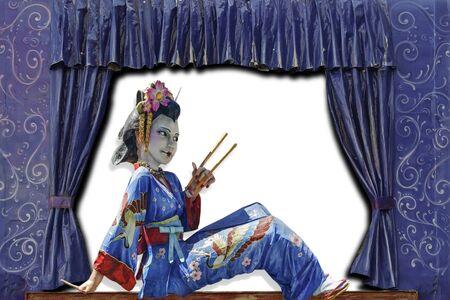 geisha at the theater