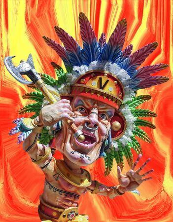 redskin or American Indians 版權商用圖片