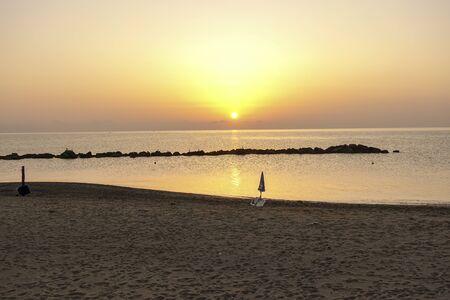 alba sulla spiaggia di Torre Melissa - 216 Archivio Fotografico