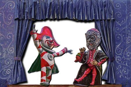 carnival masks on stage