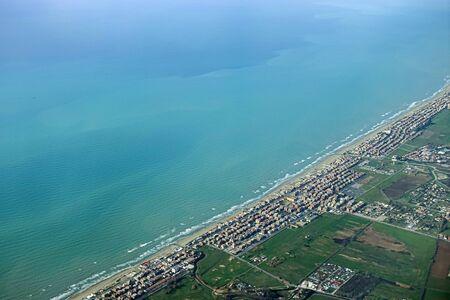 aerial photo of the Roman coast 版權商用圖片