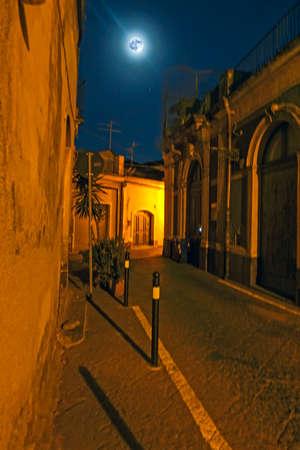 Acireale vico aleesi at night