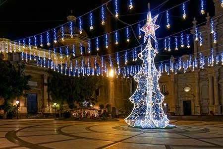 Christmas atmosphere piazza duomo Acireale