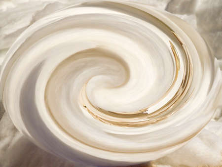 Abstract 400 white spiral