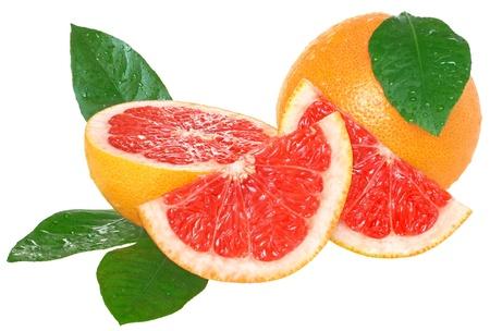 grapefruit: Grapefruit on a white background. Stock Photo