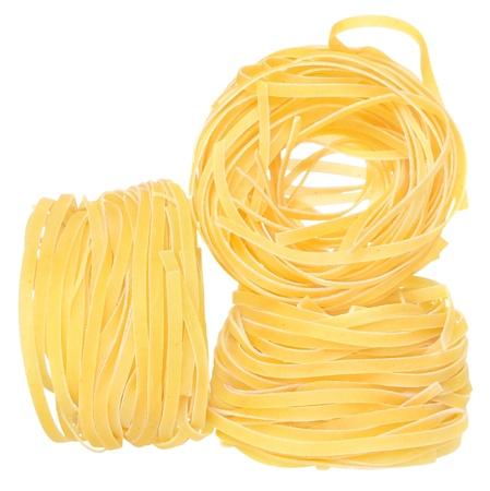 Macaroni close up on a white background.