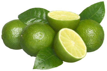 Fresh lime on a white background.