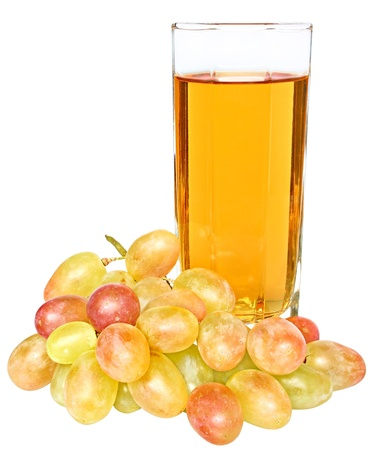 Grapes and glass of juice of a grapes. 스톡 사진