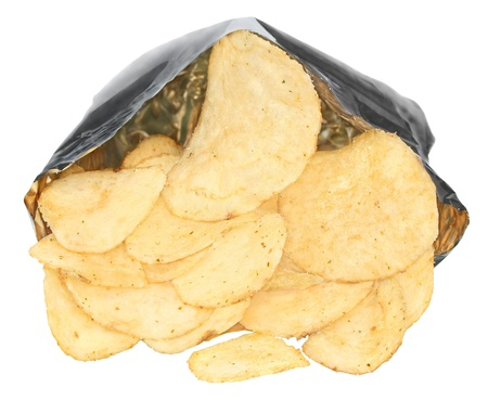 Potato chips on a white background. Stock Photo - 10127771