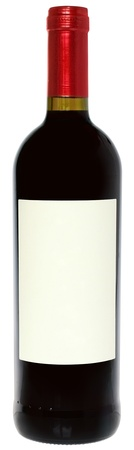 docket: Bottle with a wine on a white background.