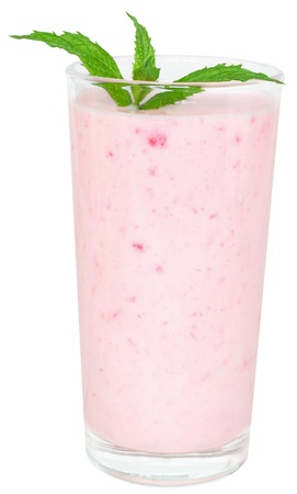 Strawberry Shake on a white background.