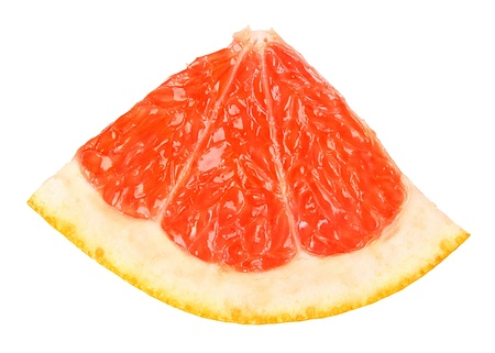 La toronja en un fondo blanco.
