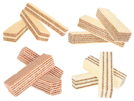 Wafers on a white background Stock Photo - 11104690