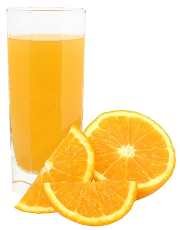 Orange juice isolated. Stock Photo