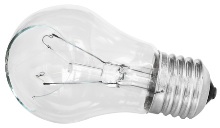 The broken bulb on a white background  photo