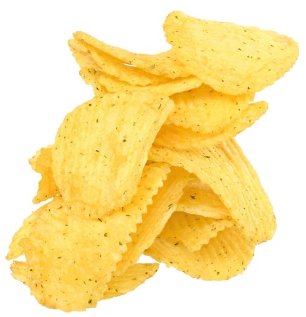 Tower potato chips isolated