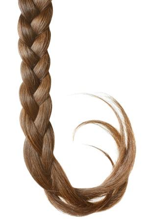 Women braid on a white background