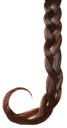 Women braid on a white background. photo