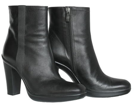 Female black boots on a white background. Stock Photo - 16273241