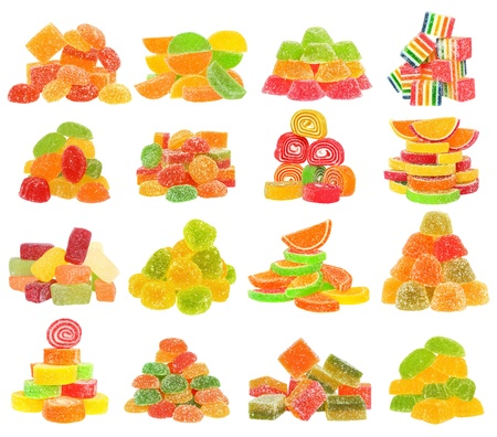 Candy set isolated on white background  photo