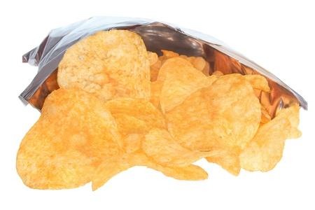 Potato chips on a white background Stock Photo - 16475298