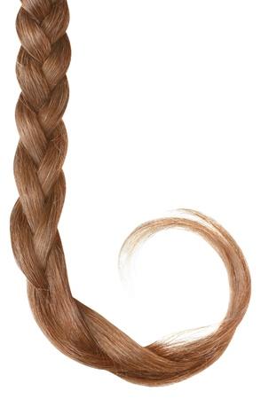 Women braid isolated on white background. photo