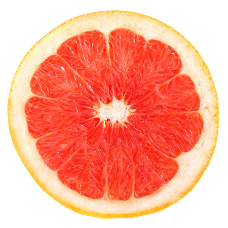 Grapefruit on a white background. Stock Photo