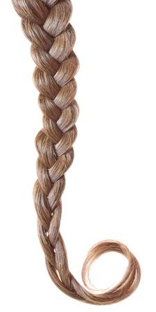 fair hair: Women braid on a white background.