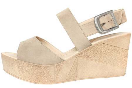 summer shoes: Female summer shoes on a white background.