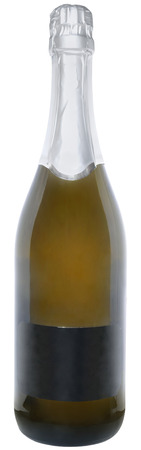 drinkable: Bottle with a champagne on a white background.