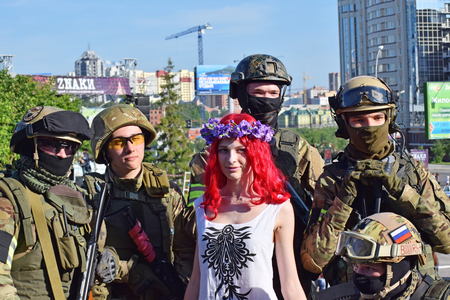 subcultures: Novosibirsk, Russia - June 6, 2015: The festival of youth subcultures and cosplay Znaki. Among the participants especially a lot of cosplayers. Editorial