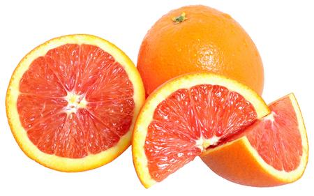 blood orange slice isolated on a white background
