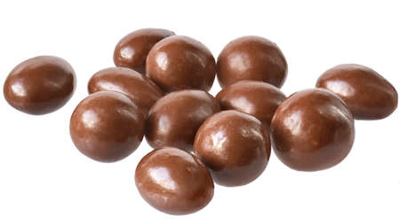Chocolate balls close up isolated on a white background. Reklamní fotografie