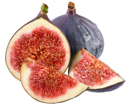 Sliced figs closeup isolated Reklamní fotografie