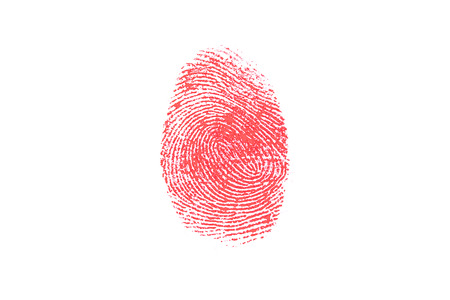 Fingerprint on the white background photo
