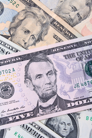 Close up of the dollars  photo