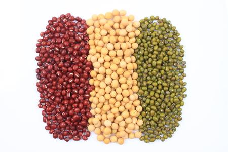 Red bean, soybean and mung bean photo