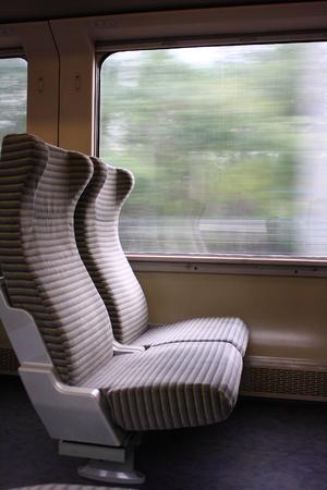 Inside the train, Train seat photo