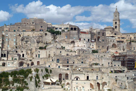 Matera, Basilicata, Italy, The Sassi and the Park of the Rupestrian Churches of Matera, UNESCO World Heritage Center. 新聞圖片