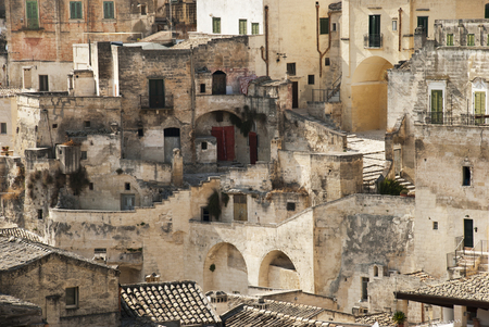 characteristic glimpse of the town of Matera