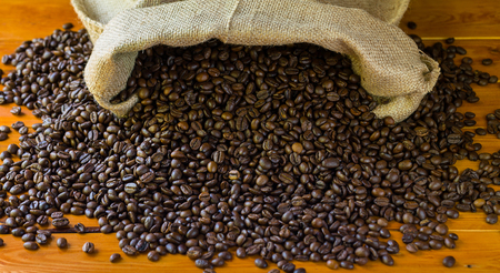 coffeebeans: Coffee-beans in jute